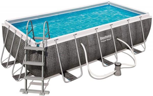 Bestway Frame Pool Set 412 x 201 Rattan 56722