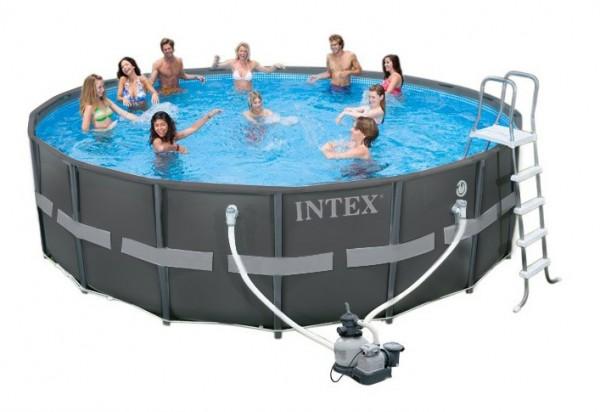 Intex Ultra XTR Frame Pool-Set 488x122 mit Sandfilter 26326