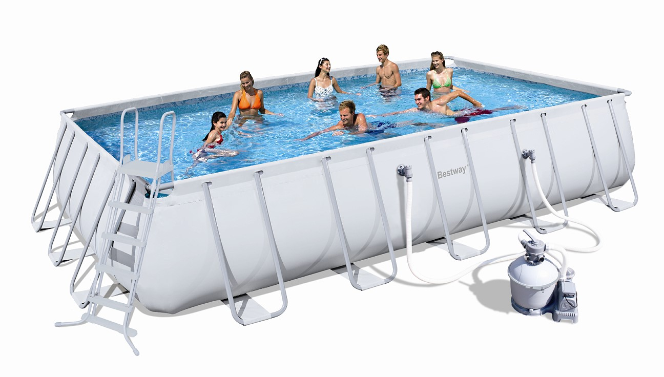 Bestway rectangular frame pool set 671 x 366 sandfilter for Bestway pool ersatzteile