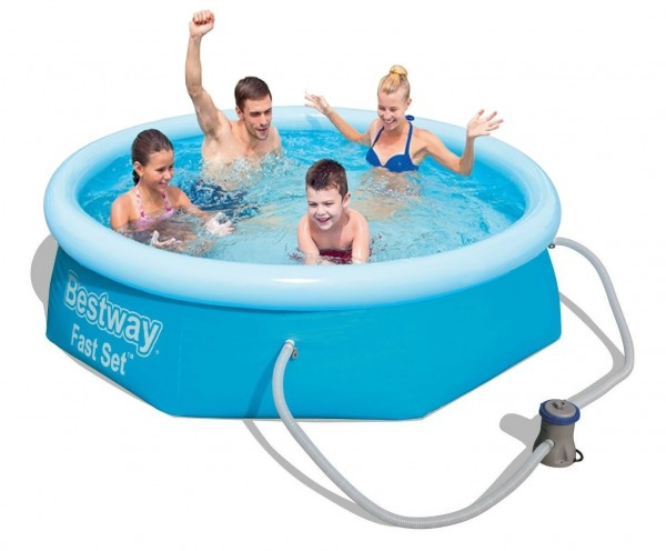 Bestway Fast Set Pool 244x66cm + Pumpe 57268