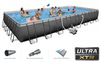 INTEX Ultra XTR Frame Pool MegaSet 975x488 + Salzwasser 26378