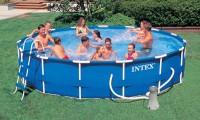Intex Metal Frame Pool Komplett Set 457x91 56942 GS
