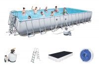 Bestway Power Steel Frame Pool Set 956 x 488 x 132 + Sandfilter 56623