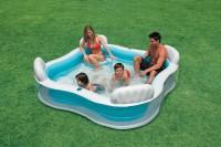 Intex Schwimm Center Family Pool mit vier Sitzen 56475