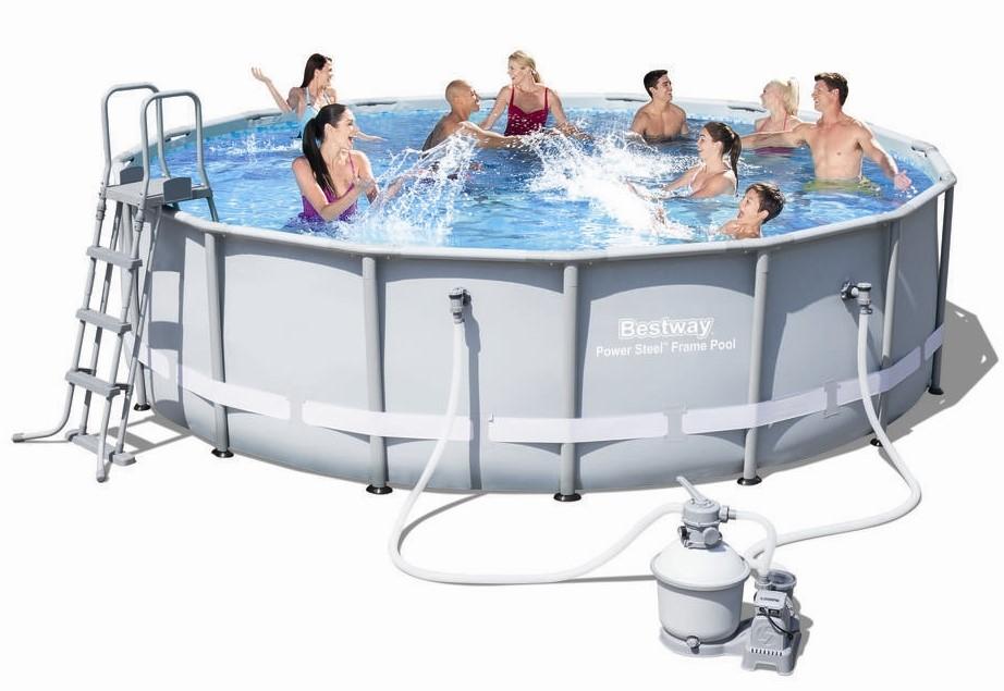 bestway steel pro pool set 488x122 mit sandfilter 56452 frame pools hersteller bestway. Black Bedroom Furniture Sets. Home Design Ideas